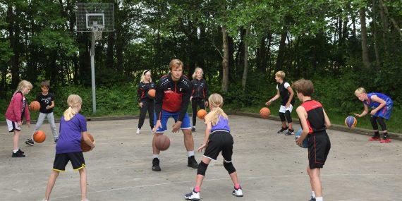 basketbaltraining met Reinder Brandsma